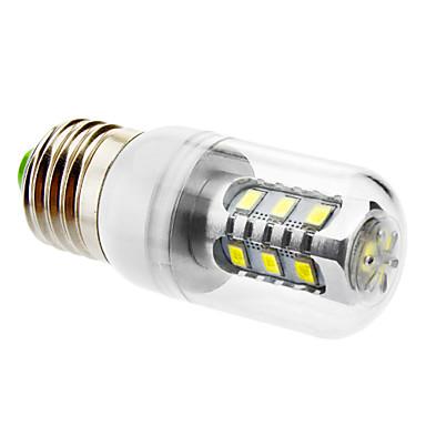 600 lm E26/E27 LED Mısır Işıklar T led SMD 5630 Doğal Beyaz AC 220-240V