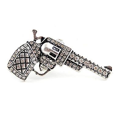 Unique Full-Diamond Handgun Adjustable Ring