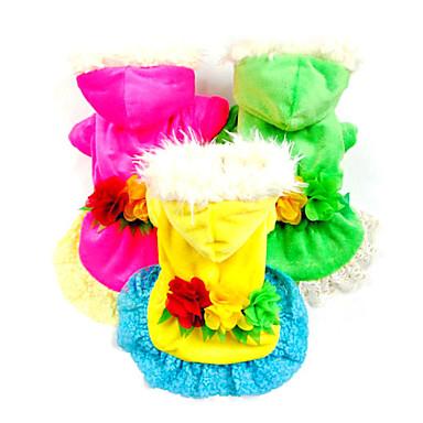 Chien Robe Vêtements pour Chien Cosplay Floral / Botanique Jaune Rouge Rose Vert Costume Pour les animaux domestiques