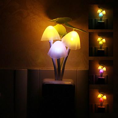 mantar şeklinde renkli led gece ışık kaliteli gece ışık