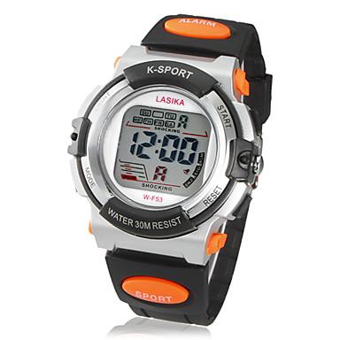 lcd numérique multi-fonction en caoutchouc de montre-bracelet de bande des hommes (couleurs assorties)