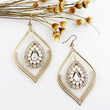 Earring Drop Earrings Jewelry Women Party / Daily Alloy / Rhinestone White / Green / Pink KAYSHINE