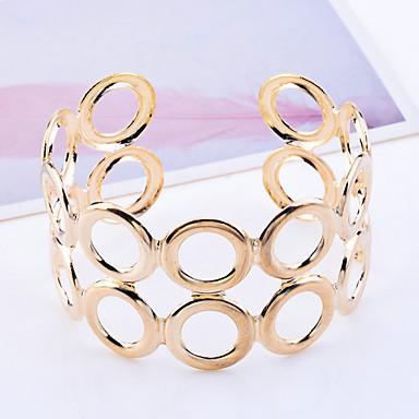 Heren Cuff armbanden Uniek ontwerp Modieus Hol Kostuum juwelen Verguld Cirkelvorm Sieraden Sieraden Voor Feest Dagelijks Causaal