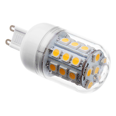 3 W 3000 lm G9 LED Mısır Işıklar T 30 LED Boncuklar SMD 5050 Sıcak Beyaz 220-240 V