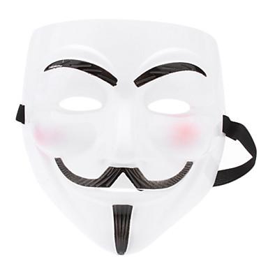 Máscara brilham no escuro de V for Vendetta (branco)
