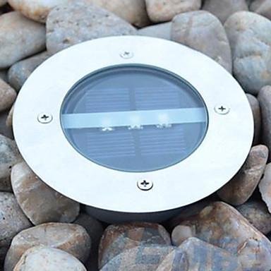 güneş enerjisi yuvarlak gömme güverte rıhtım yolu bahçe ışık led