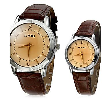 Муж. Жен. Для пары Кварцевый Японский кварц Модные часы Горячая распродажа Группа Кулоны Черный Коричневый