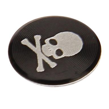 Недорогие Гаджеты для Samsung-черепа печатать сплава черная кнопка дома стикер для iphone / ipad / ipod