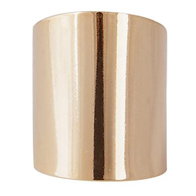 Gold-Tone Mirrored Big Ring