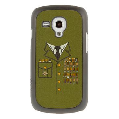Askeri Üniforma Çizim Desen Koruyucu Sabit Arka Samsung Galaxy Trend Duos S7562 Kapak Kılıf