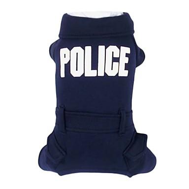 Plain Color Police Cotton Jump Suit for Pets Dogs (Assorted Colors, Sizes)