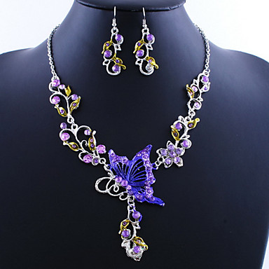 cheap Jewelry Sets-Women's Jewelry Set Butterfly Ladies, Vintage,