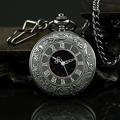 Erkek Cep kol saati Quartz Alaşım Bant Vintage Siyah