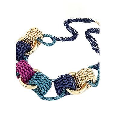 Ожерелья-бархатки Винтажное ожерелье  -  Круглый Радужный Ожерелье Назначение Повседневные
