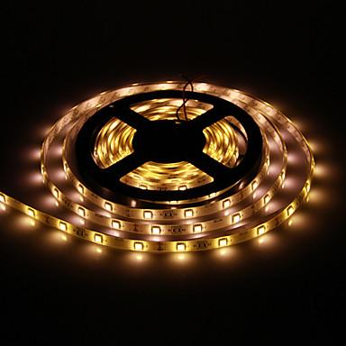 Su geçirmez 5M 30W 30x5050SMD 1500 1800lm 2800 3200K Sıcak Beyaz Işık Şerit Işık (DC12V) LED
