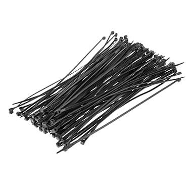 Attache de câble 200mm * 4mm Noir 100pcs