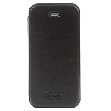IPhone 5c için koruyucu TPU Geri Case + PU Deri Kapak - Siyah