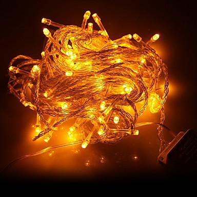10m Fâșii de Iluminat 100 LED-uri Dip Led Galben Petrecere / Decorativ / De Legat 220-240 V 1set / IP44