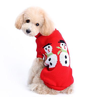 Köpek Kazaklar Köpek Giyimi Solid Yün Kostüm Evcil hayvanlar için Erkek / Kadın's Sıcak Tutma / Noel