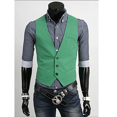 Men'S Slim Pure Color Vest