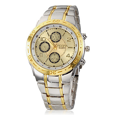 Erkek Quartz Bilek Saati Alaşım Bant Gümüş