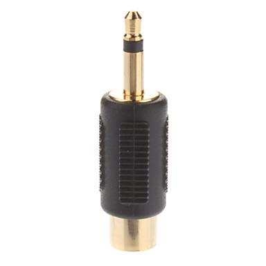 RCA dişi 3.5mm Tek Parça Bay Jack Splitter Adaptör Altın kaplama,