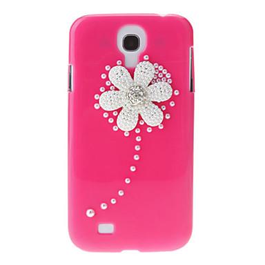 For Samsung Galaxy Case Rhinestone / Pattern Case Back Cover Case Flower PC Samsung S4