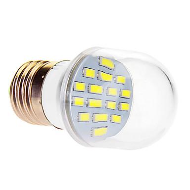 Bulb LED Glob 610 lm E26 / E27 16 LED-uri de margele SMD 5630 Alb Rece 220-240 V / #