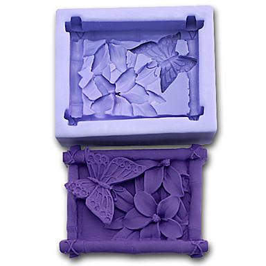 Bakeware araçları Silikon Çevre-dostu / 3D / Kendin-Yap Kek / Kurabiye / Tart Pişirme Kalıp 1pc