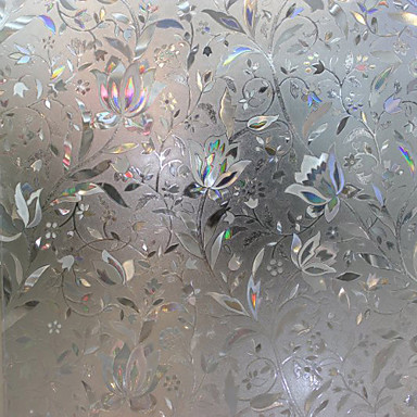 Pencere Filmi ve Çıkartma Dekorasyon Çağdaş Çiçekli PVC / winyl Pencere Filmi / Oturma Odası / Banyo
