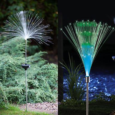 2pcs Bahçe Işıklar / Çimen Işık 1 LED Boncuklar Yüksek Güçlü LED Dekorotif Çok Renkli