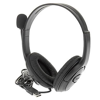 Con conexión de cable USB estéreo de auriculares estéreo con control remoto para la PS3