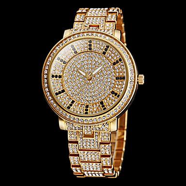 billige Dameure-Dame Diamantbelagt ur guld ur Quartz Rustfrit stål Sølv / Guld Imiteret Diamant Analog Glitrende Mode Kjoleur - Guld Sølv To år Batteri Levetid / Maxell626