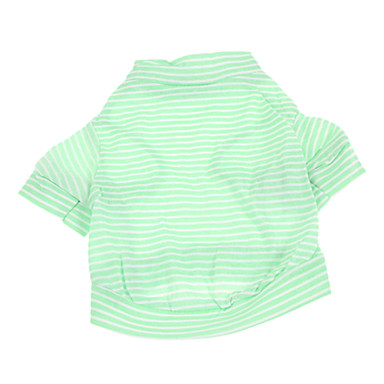 Dog Shirt / T-Shirt Dog Clothes Stripe Green Cotton Costume For Pets