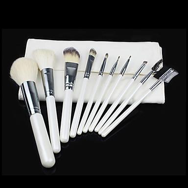 10 Fırça Setleri Sert Kıl Fırçası (Domuz Kılı) / Sentetik Saç / Keçi Kılı Fırça Yüz / Dudak / Göz
