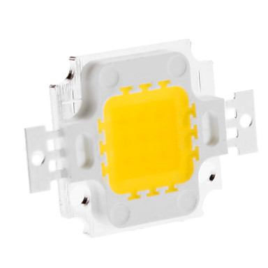 diy 10w 820-900lm 900ma 3000-3500k módulo led integrado de luz blanca cálida (9-12v)