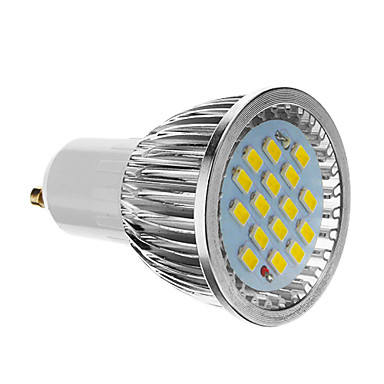 4W GU10 LED Spot Işıkları 16 SMD 5730 350-400 lm Serin Beyaz AC 85-265 V