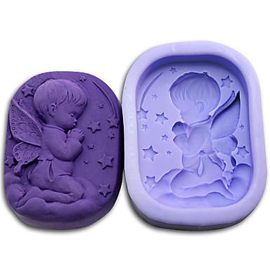 Bakeware araçları Silikon Çevre-dostu / 3D / Kendin-Yap Kek / Kurabiye / Tart Bebek uyku Pişirme Kalıp 1pc