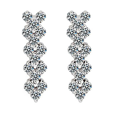 (1 Pair)Sweet Silver Alloy Drop Earrings