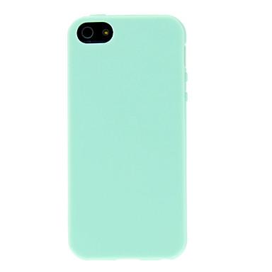 Pouzdro Uyumluluk iPhone 5 Apple iPhone 5 Kılıf Other Arka Kapak Tek Renk Yumuşak TPU için iPhone SE/5s iPhone 5