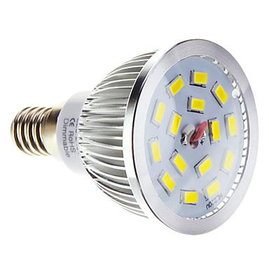 5W E14 Lâmpadas de Foco de LED 15 SMD 5730 100-550 lm Branco Quente / Branco Frio Regulável AC 220-240 V