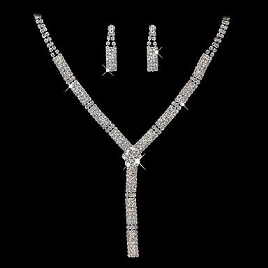 moda şeffaf taklidi (kolyeler ve küpe) Düğün takı setleri