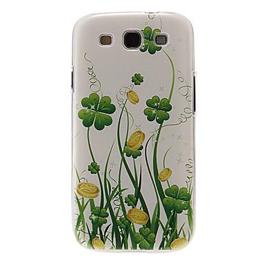 Samsung Galaxy S3 i9300 için yeşil Vine Desen Plastik Koruyucu Hard Case Arka Kapak