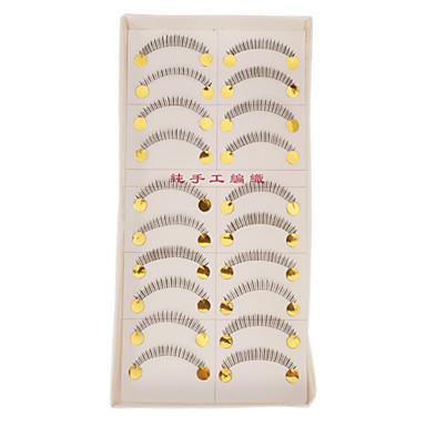 Kirpik Takma Kirpiker 20 pcs Hacimlendirilmiş / Bukle / Ekstra Uzun Kirpik Klasik Açılır Tek Kapak Günlük Makyaj Kozmetik