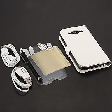 Için Cüzdan / Kart Tutucu / Satandlı / Flip Pouzdro Tam Kaplama Pouzdro Solid Renkli Sert PU Deri Samsung S3