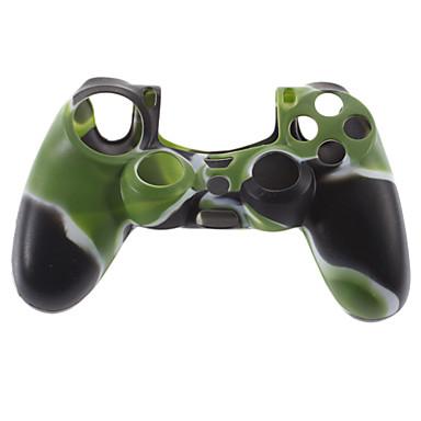 Silikon Kılıf ve PS4 (Hunter Yeşil) için 2 Black Thumb Stick Sapları