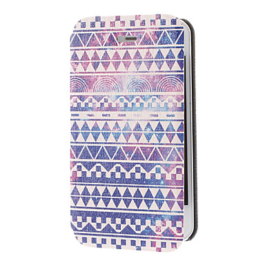 Special Design Purple Drawing Leather Full Body Case for iPhone 4/4S