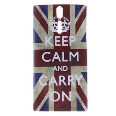 Crown UK Flag Pattern Hard Case for Sony LT26i