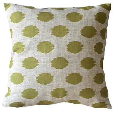 Sage Green Flash Oval Stripes Dekoratif Yastık Kılıfı