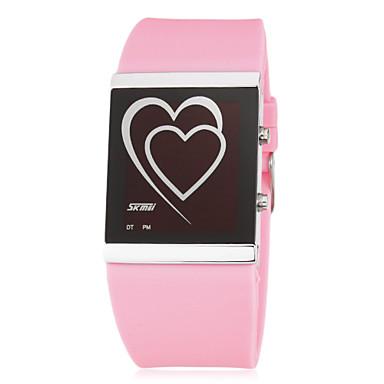 Жен. Цифровой LED силиконовый Группа Heart Shape Черный Белый Синий Розовый Роуз